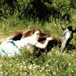Wuemba y Cristina en 1997